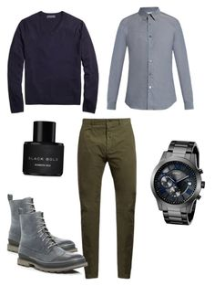 """""""Casual"""" by allonasada on Polyvore featuring Brooks Brothers, Paul Smith, SOREL, Tomas Maier, Kenneth Cole, GUESS, men's fashion and menswear"""