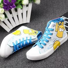 The Simpsons e Hand-painted Shoes Only $44.99 Free shipping worldwide…