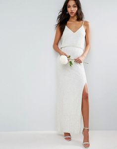 ASOS BRIDAL Cami Embellished Maxi Dress|Wedding Dresses
