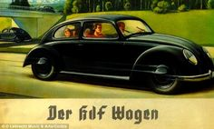 The Beetle was devised by Adolf Hitler who created a plan to solve Germany's unemployment problem by building autobahns for motor vehicles. Work began on the roads in 1933, but the car was not finished until 1939 when production was handed over to the German Air Force. A 1930s Volkswagen ad is pictured