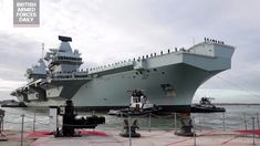 Royal Navy aircraft carrier, HMS Queen Elizabeth, sails back into Portsmouth today, after successful completion of initial fast jet trials in America, markin. Royal Navy Aircraft Carriers, Navy Carriers, Hms Queen Elizabeth, British Armed Forces, Portsmouth, Sailing, Boat, America, News
