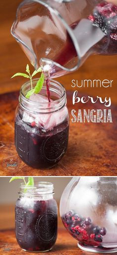 Summer Berry Sangria is a refreshing cocktail made with summer berries soaked in red wine with berry infused vodka and a sweet bubbly ginger ale.