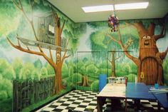 8 Amazing Preschool Garden Mural Images Garden Mural Preschool
