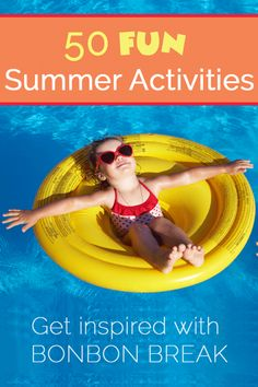 50 Fun Summer Activities to wet your summer whistle! It's almost here and we are thinking about all of the recipes, projects and activities we want to do!
