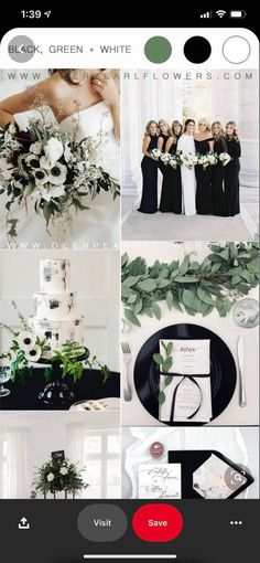 A helpful place to plan your wedding with other Wedditors!. Green Gold Weddings, Black And White Wedding Theme, Gold Wedding Colors, Gold Wedding Theme, Wedding Color Schemes, Black White Weddings, Modern Wedding Theme, Wedding Ideas, Wedding Planning