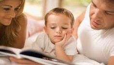 Image result for toddler reading with parents