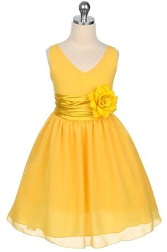 $49.99 NEW! Chiffon Spring Easter Flower Girl Dress, Yellow: https://www.thestylishboutique.com/ProductDetails.asp?ProductCode=1082