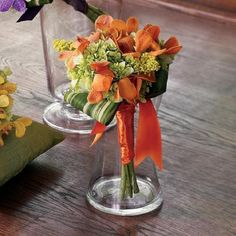 Fall Spring Summer Winter Green Orange Yellow Bouquet Wedding Flowers Photos & Pictures - WeddingWire.com