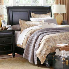I love a good sleigh bed  Everett Sleigh Headboard