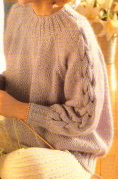 Love the sleeves Sweater Weather, Knit Art, Cable Sweater, Mohair Sweater, How To Purl Knit, Knit Fashion, Mode Outfits, Knitting Designs, Pulls