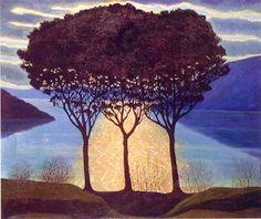 Three Pines - Luigi Russolo, 1944 Italian, 1885-1947 Oil on canvas