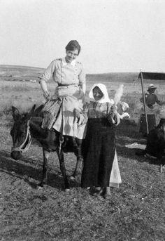 Nurse on donkey. Nursing Angel, Canadian Army, Vintage Nurse, Donkey, Nurses, World War, Wwii, Angels, Sisters