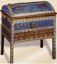 Tjuyu chest of jewels. The Egyptians had an obsession with gems and jewels and kept them in chest similar to this.