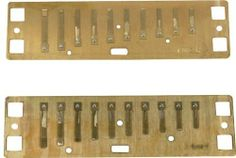 """Lee Oskar Reed Plates Harmonic Minor C by Lee Oskar Harmonicas. $23.42. Lee Oskar provides players with a better option. Replacement reed plates make it easy to create a """"new"""" harmonica at about half the cost!    Original comb and cover plates are recycled into the rebuilt harp. This simple process involves only three screws and two nuts and bolts.  Now that makes a lot of sense!    Replacement Reed Plates in every key are an exclusive feature of Lee Oskar Harmonicas."""