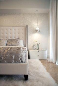 White bedroom.