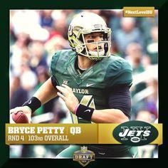 Bryce Petty is now a New York Jet. #SicEm #NextLevelBU
