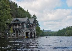 """Camp Topride in the Adirondaks.  The Boathouse.  My favorite little country retreat. """"sigh"""""""