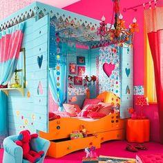 lots of colors         #bedroom #kids