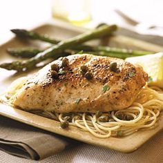 Chicken with Lemon-Caper Sauce | MyRecipes.com #MyPlate #protein