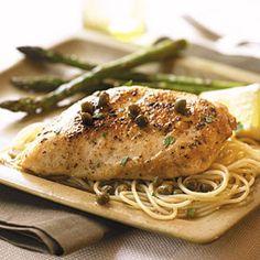 Chicken with Lemon-Caper Sauce | MyRecipes.com #myplate #protein