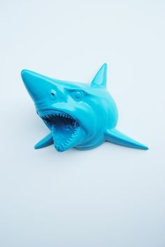Not a swordfish but close! bet you could wedge a wooden leg inside the mouth to recreate the Look; The Hooper | Shark Head | Faux Taxidermy | Blue Raspberry Resin