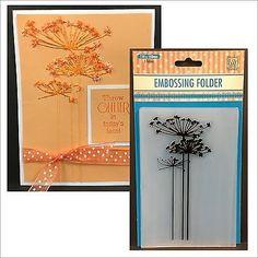 Queen Anne's Lace Flower embossing folders CONDOLENCE 1  Nellie Snellen EFCO001