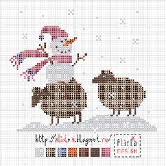Мои творилки~ snowman & sheep!                                                                                                                                                                                 Plus