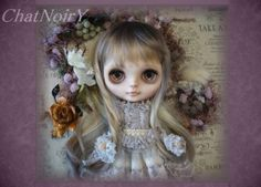 Custom Blythe - ChatNoirY -  purple  Buy her here:   #‎blythe #‎blythedolls #‎kawaii #‎cute #‎rinkya #‎japan #‎collectibles #‎neoblythe #‎customblythe