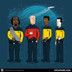 Ript Apparel: Custom T-shirts & Cheap Limited Edition Graphic Tees Cheap Shirts, Cool T Shirts, Star Trek Series, Nerd Humor, Pop Culture, Shirt Designs, Graphic Tees, King, T Shirts For Women