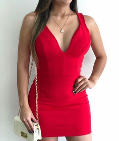 Sexy Dresses, Bodycon Dress, Rompers, Outfits, Women, Style, Fashion, Red Clothing, Clothing Templates
