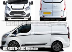 Ford Transit Custom Sport Viper stripes Ford Transit Custom Sport St style Viper racing stripes sticker kit from street race graphics. Included are side stripes, front bumper & bonnet stripes, plus stripes for the rear doors. M Sport Logo, Sliding Door Handles, Transit Custom, Sports Graphics, Camper Interior, Racing Stripes, Transporter, Ford Transit, Car Stickers