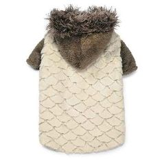 Zack and Zoey Elements Faux Fur Dog Jacket - Almond