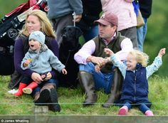 Isla and Savannah were accompanied by their parents Peter and Autumn Phillips to equestrian event