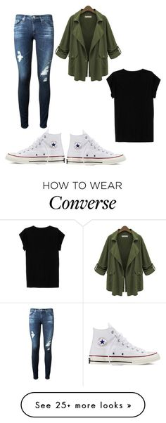 """Lazy day K•B"" by bos-courtney on Polyvore featuring Converse, AG Adriano Goldschmied and Isabel Marant"