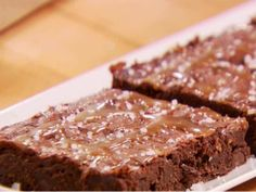 Ina Garten Salted Caramel Brownies .... because the husband has to have his chocolate. :D