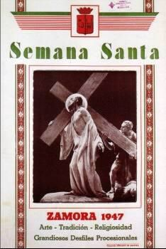 Cartel de la Semana Santa de Zamora 1947