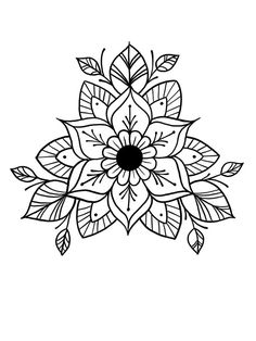 Most up-to-date Images Embroidery Patterns mandala Strategies Embroidery patterns mandala doodles 37 ideas Mandala Tattoo Design, Dotwork Tattoo Mandala, Mandala Doodle, Mandala Coloring, Colouring Pages, Handpoked Tattoo, Bild Tattoos, Mandalas Drawing, Flower Mandala