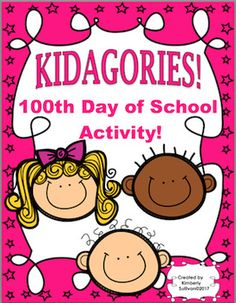 Kidagories100th day of School Game and ActivityPurpose:  to review nouns or adjectivesDirections for activity and game are included.Check preview for more details.Fun and engaging for your kids to do for 100th day of School or anytime of the year!Students are given categories and will have to name 5 nouns or adjectives that go with the category.There are 100 categories of nouns, recording sheets, and a cover for their notebookto color and paste.This is a great activity for a Literacy…
