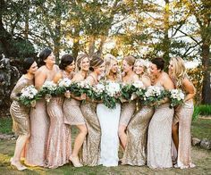 Ending this New Year's weekend off with a little sparkle! We  this mismatched bridal party look  #theknot #regramsunday  via @emilyjeanimages via @angela4design