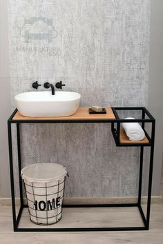diy home furniture projects Welded Furniture, Industrial Design Furniture, Steel Furniture, Industrial Interiors, Home Decor Furniture, Furniture Design, Industrial Kitchen Design, Home Room Design, Bathroom Design Luxury