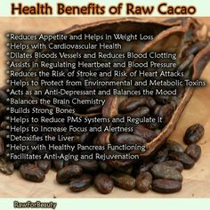 .Raw cacao...one of the best antioxidants...a bit in your morning protein drink fortifies you for the day!