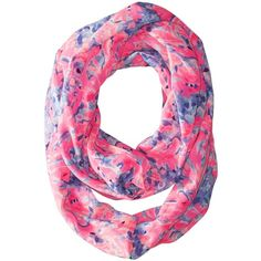 Lilly Pulitzer Resort Infinty (Multi Coco Coral Crab) ($68) ❤ liked on Polyvore featuring accessories, scarves, coral infinity scarf, tube scarves, pattern infinity scarf, print scarves and lilly pulitzer scarves