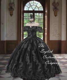 Victorian crinoline dress Civil war sequin by TheEnglishCostumeCo
