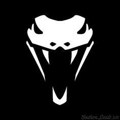 Snake Head Cobra Fangs - Vinyl Decal Sticker - long x high - 24 Colors - [ Cobra Mamba, Logo Moto, Animal Symbolism, Snake Design, Desenho Tattoo, Black Mamba, Game Logo, Animal Logo, Pictogram