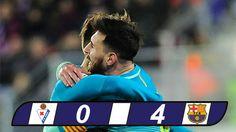 Bàn thắng Barca: D. Suarez (31′), Messi (50′), L. Suarez (68′), Neymar (90'+1)     VIDEO: Eibar 0-4 Barcelona    ĐANG TẢI VIDEO…Vui lòng chờ trong giây lát.       Việc Barca có được thắng lợi tưng bừng trước Eibar là kết quả đã được nhiều người dự đoán từ trước...