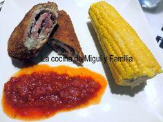 LA COCINA DE MIGUI Y FAMILIA: FLAMENQUINES CON JAMÓN DE BELLOTA  Y QUESO AZUL