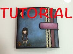 Paso a paso de como hice el mini album de la muñeca gorjus He puesto la medida en cm, es aproximada...
