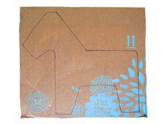 Draw a donkey shape onto flat cardboard pieces.