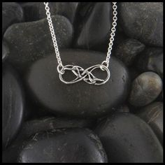 Celtic Infinity Knot Necklace Sterling Silver