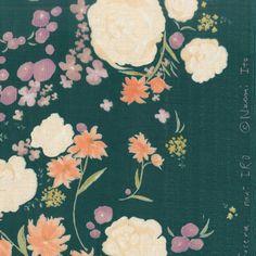 Nani Iro Fuccra Quingming ~ Deep Green Cotton Double Gauze Fabric ~ Weave & Woven
